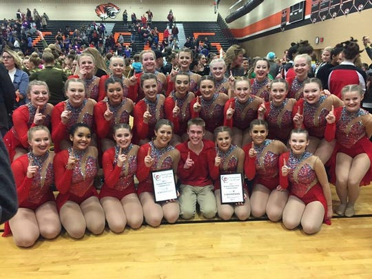 The DCE Dance Team earned first place in the Division 1 Pom and Division 1 Jazz sectors at a regional competition to qualify for state competition.