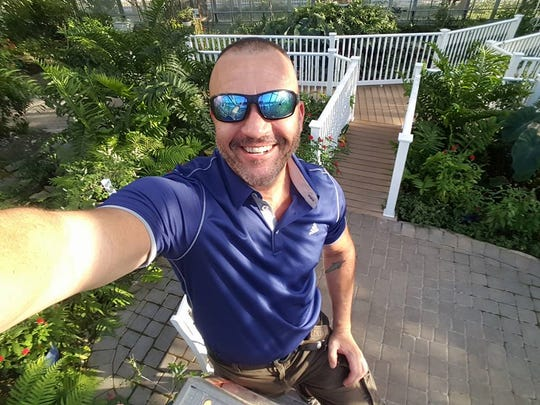 Butterfly Estates owner Rob Johnson takes a selfie on the Estates grounds.