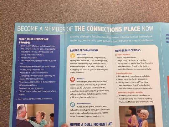 Flyers for The Connections Place, which is expected
