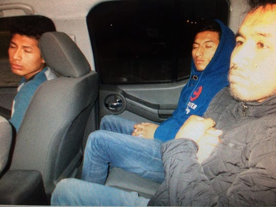 Three undocumented immigrants from Ecuador were released to Border Patrol after the driver of the vehicle they were riding in was arrested in San Diego on Feb. 11, 2017.