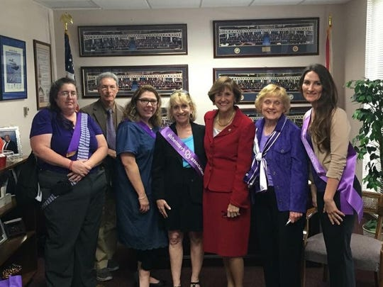 Treasure Coast advocates meet with state Rep. Gayle Harrell, R- Stuart, in Tallahassee.