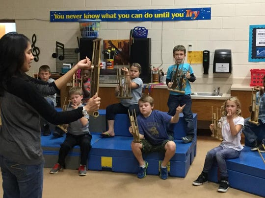MPSD elementary schools were the first in the Midwest to offer an Angklung music program for students, with 18 donated sets of the bamboo instruments.