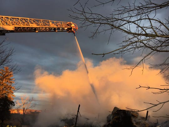 A fire in Lower Windsor Township engulfed a barn and