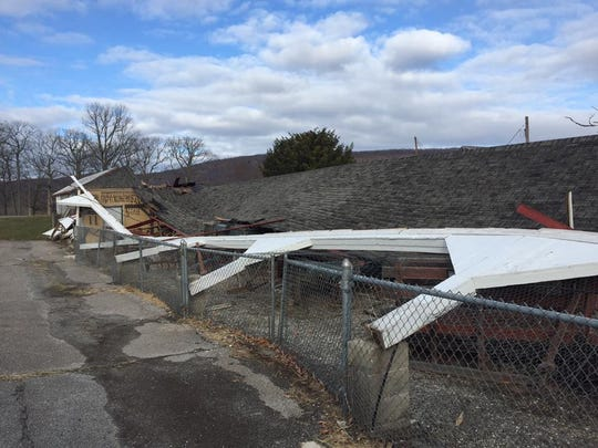A powerful storm leveled the historic blacksmith shop and museum Saturday at Space Farms in Wantage.
