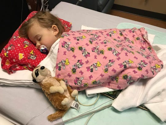 Our beautiful angel, Isabella, fresh off surgery. She'll