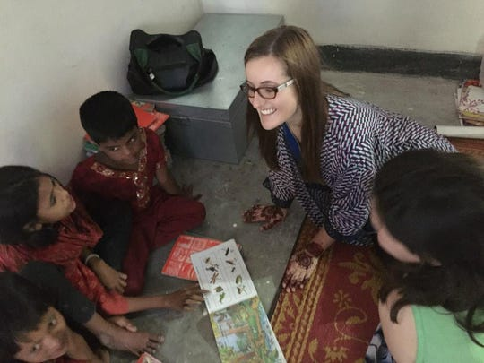 Paige Myers of Boone, an Iowa Youth Institute alumna, worked with a charity in Bangladesh after her time with the institute.