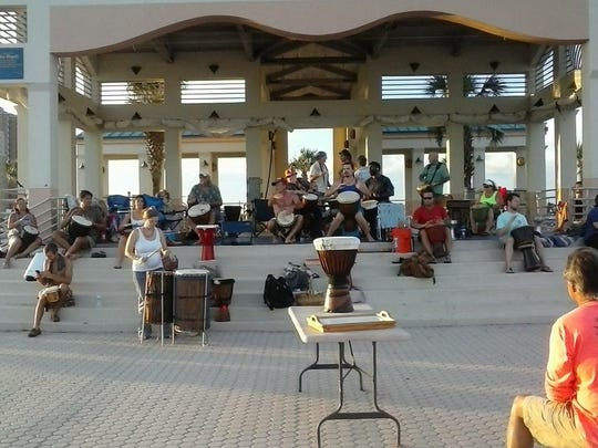 Head to the Gulfside Pavilion on Pensacola Beach March 11, weather permitted, and join or watch a community-inspired drum circle.
