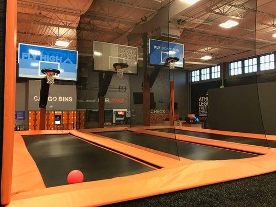 Slam-dunks made easy at Sky Zone in Asheville.