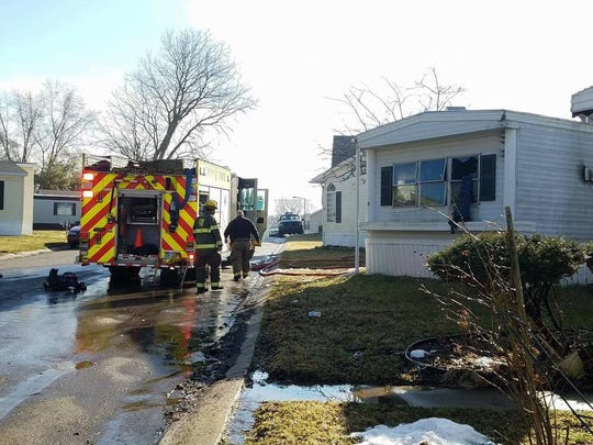 No one was injured in an accidental fire at Lyon Township mobile home.