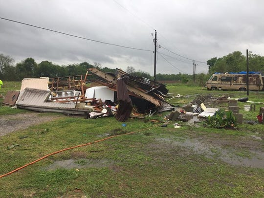 A tornado that struck a trailer in St. Martin Parish at 9:30 a.m. Sunday claimed the lives of two people.