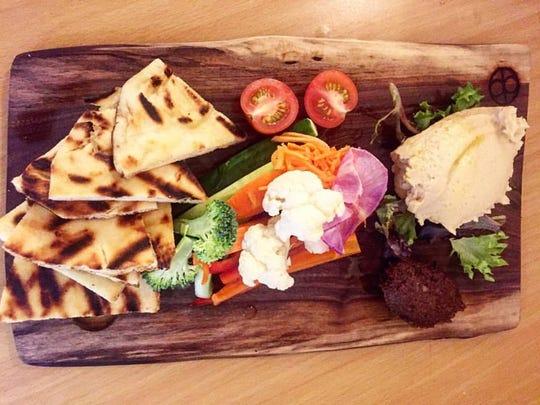 A hummus platter from d'jeet? in Shrewsbury.