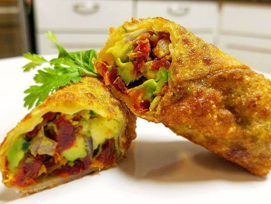 Avocado egg roll from The Guac Spot.