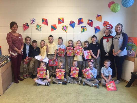 Pictured is one of the classes the Rotary Club of Union County was able to provide educational books for.