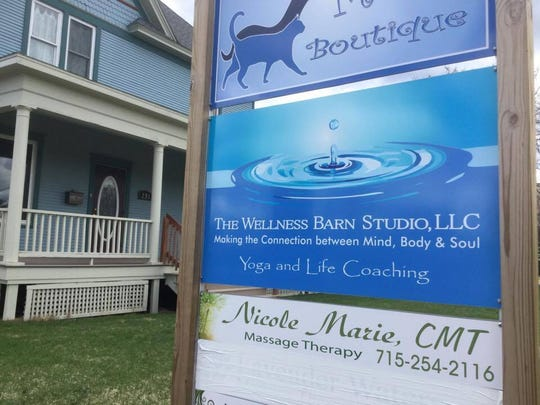 The Wellness Barn Studio is located at 231 Lincoln Street in Wisconsin Rapids.