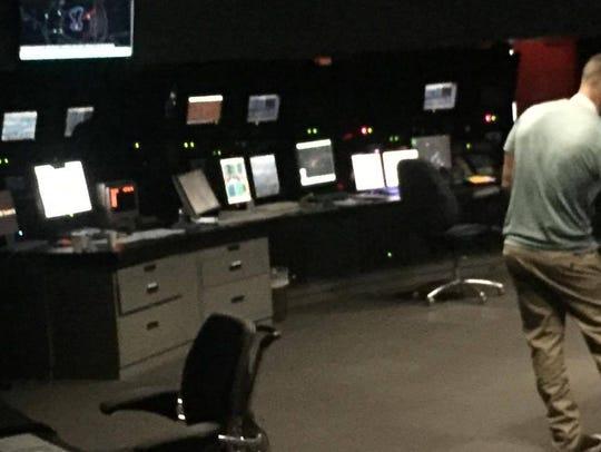 The TRACON control room.