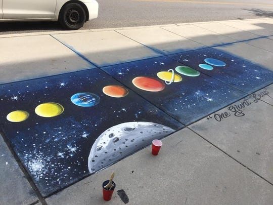 A new sidewalk mural in York.