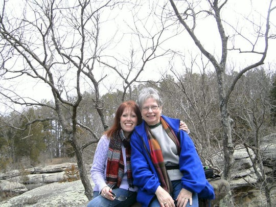 Gleaner reporter Beth Smith and her mom Frances Smith at Garden of the Gods.