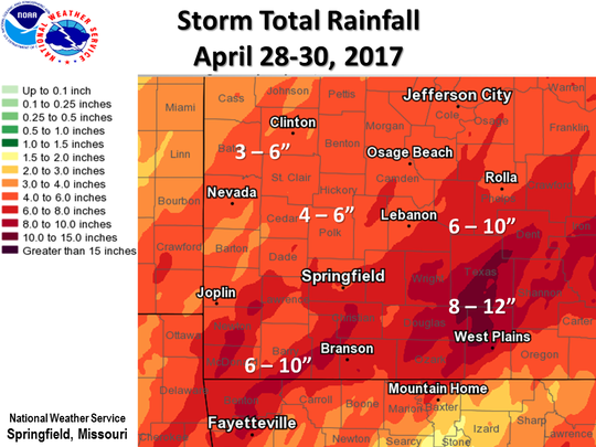 Areas that got 10-12 inches are considered to be in a 1,000-year flood event.