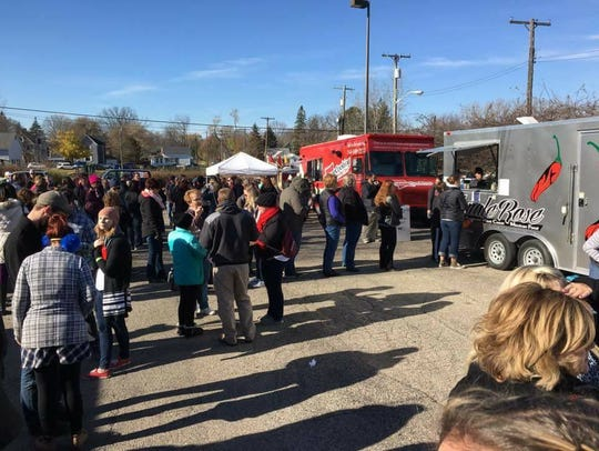 Visitors at last year's Food Truck Rally line up for