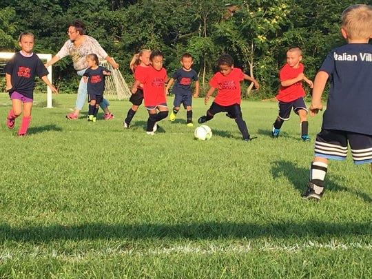 Lebanon Revolution U-6 team in action last season at Southwest Park.