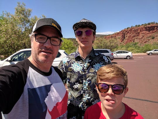 Roger Webb and his sons, Jonathan and Brendon, are