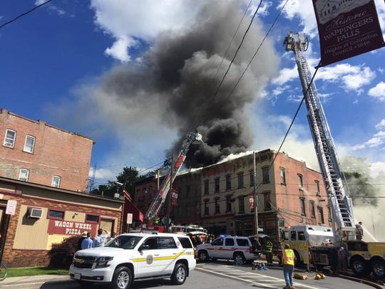 A structure fire broke out in the Village Wappingers