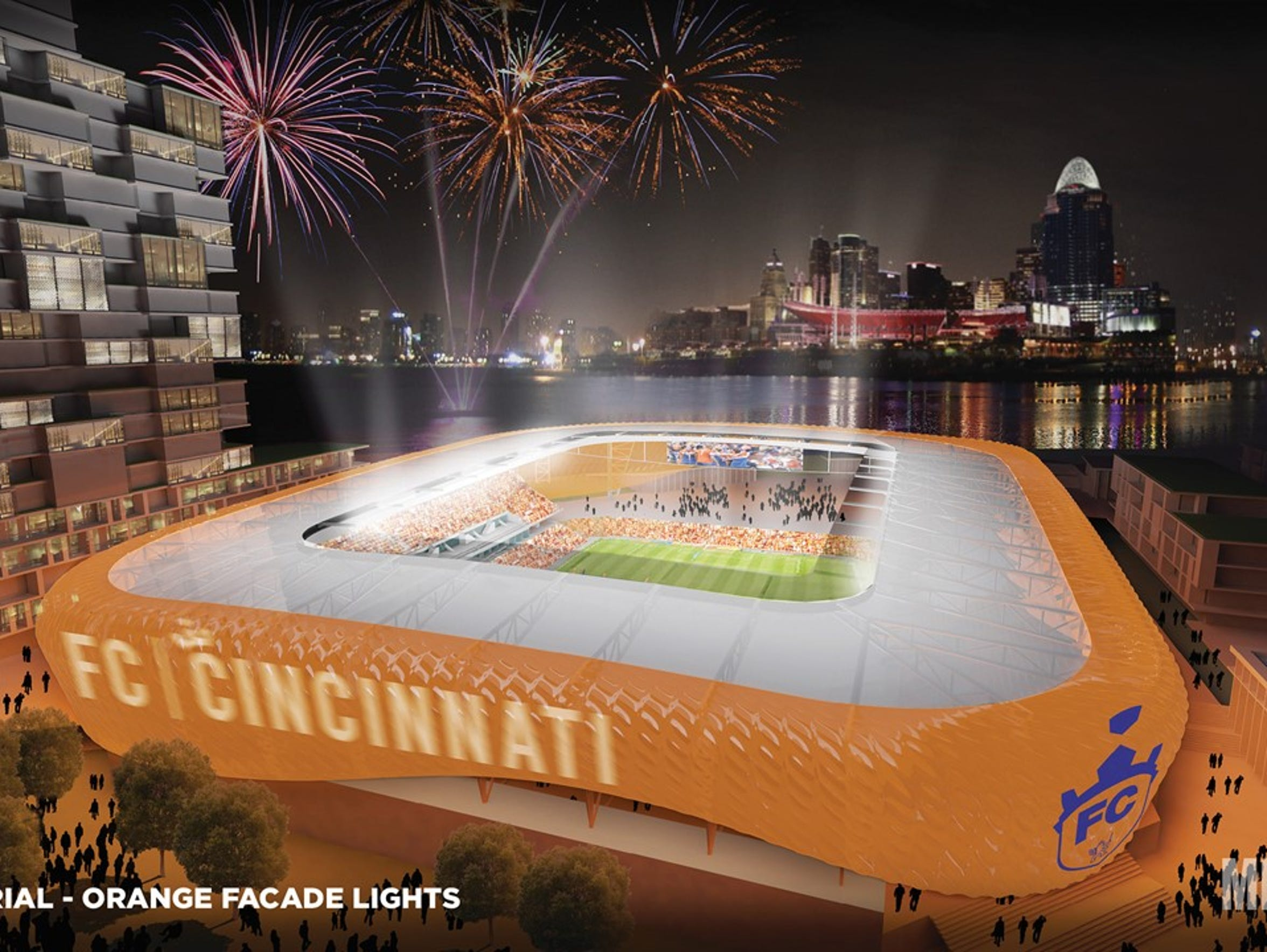 A rendering of Futbol Club Cincinnati's preliminary