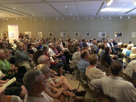 More than 200 people, many from out of state, attended the opening of the Marc Chagall Le Cirque exhibit at Manitowoc's Rahr-West Art Museum Sunday.