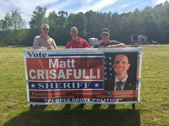Former Worcester County Sheriff Chuck Martin (left) and current Worcester County Sheriff Reggie Mason (right) have both endorsed Matt Crisafulli, a 2018 candidate for Worcester County sheriff.