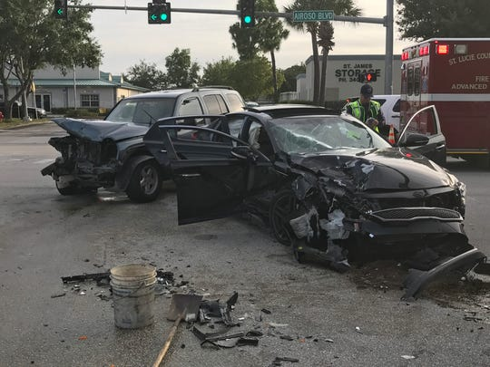 A three-car crash occurred Tuesday evening in Port St. Lucie and resulted in a traffic citation.