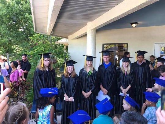 The graduation ceremony at Sun Grove Montessori School