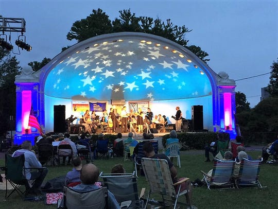The summer concert series at Hudson Park in New Rochelle