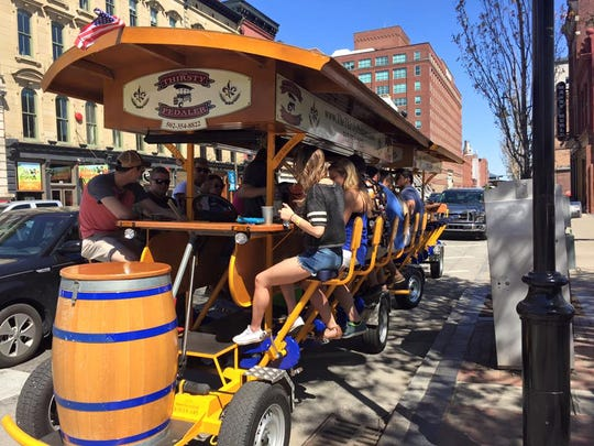 The Thirsty Pedaler is a bar-like transportation option.