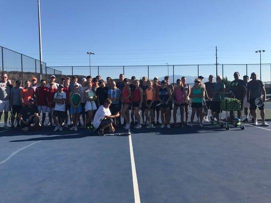 Saturday's Super Saturday tennis tournament at Desert