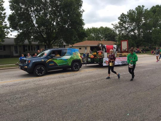 The Farm Technology Days float is out and about promoting