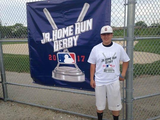 Helfrich Park Middle School eight-grader Brandon Juarez will participate in the Junior Home Run Derby National Finals on Saturday in Miami, Florida.
