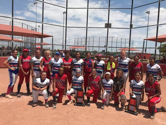 The 12-year-old and under fast pitch team Outlaws won