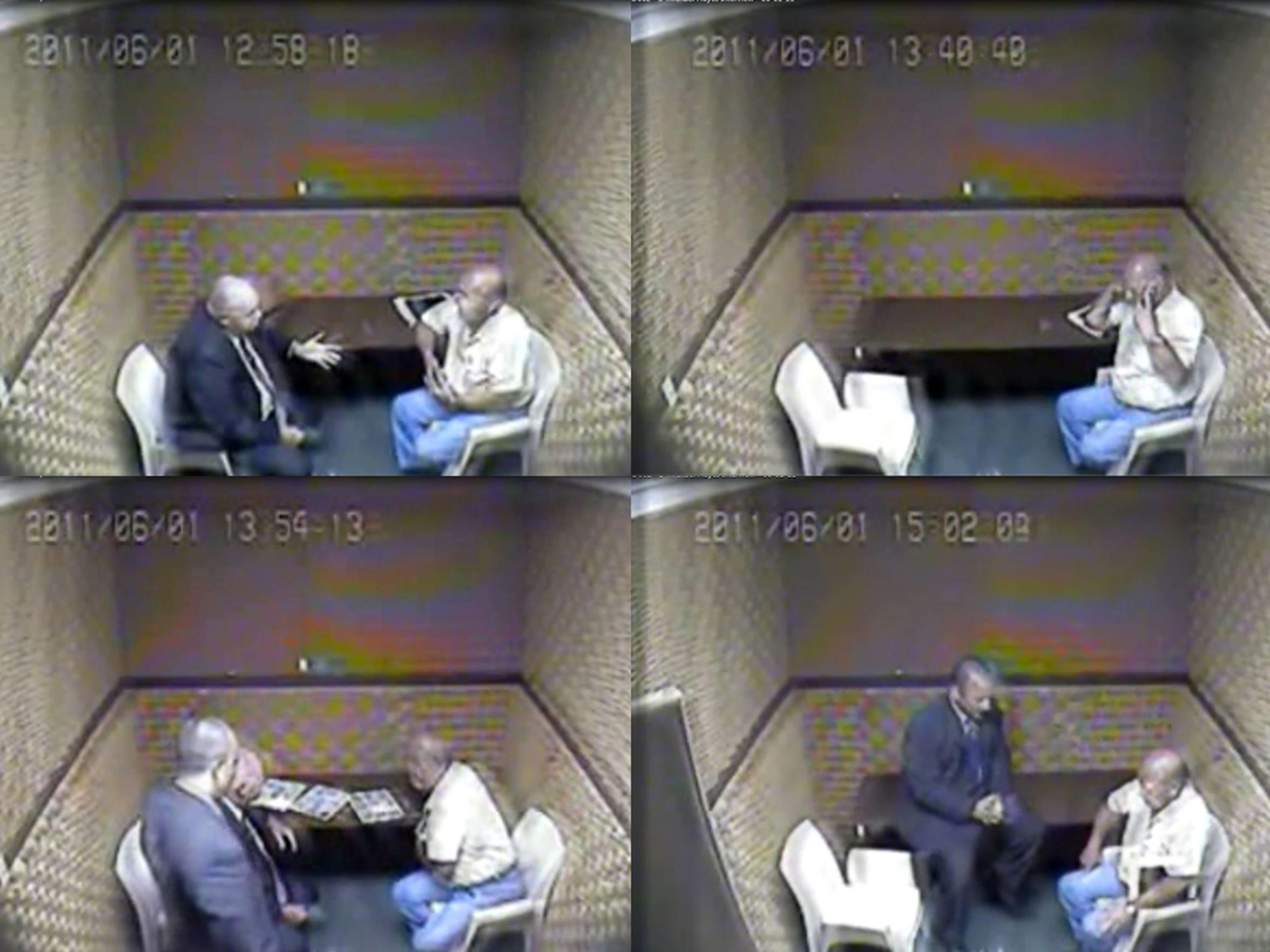 Detectives Brett Seckinger and Ed Vargas interrogate
