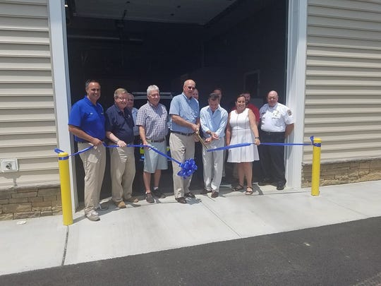 The ribbon is cut on the Medic 104/EMS Supervisor 100 station near Lewes.