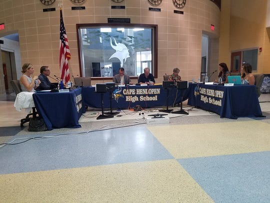 The Cape Henlopen Board of Education, seen July 13,