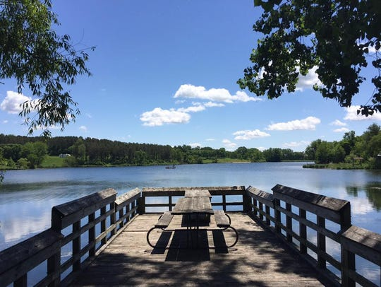 Hannen Lake at Hannen Park in Blairstown is shown on