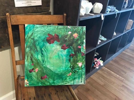 A painting by Angela Schlagel of Windy Rose Art Studio