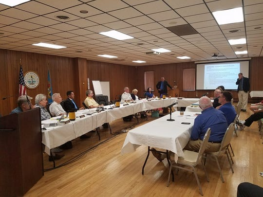 The Rehoboth Beach commission listens to a presentation