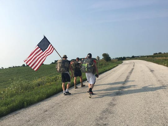 For Them - 140 Mile Ruck marchers head from Green Bay to Milwaukee to raise awareness and money for veterans.