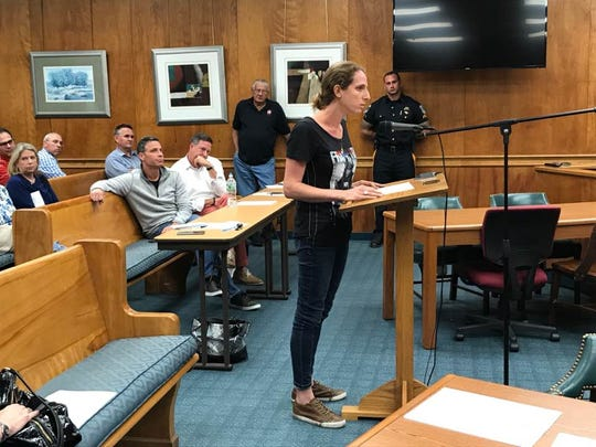 Cassie Fishkin, owner of Tinga Taqueria restaurant in Millburn, spoke against the Complete Streets project and demanded that residents' and merchants' voices be heard about the project.