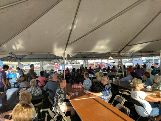 More than 500 people attended the Fremont Rotary Club's 2nd Annual Blues, Brews & Brats Festival in downtown Fremont on Saturday.