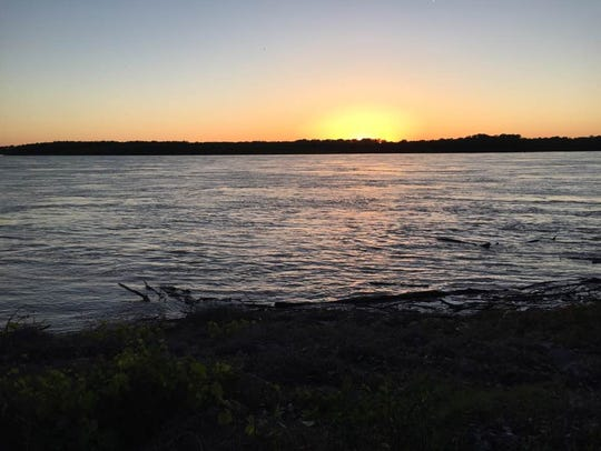 Sunset view from Mississippi River Greenbelt Park on