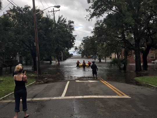 The Nashville Fire Department conducts a water rescue