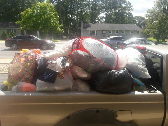 Reader donations for the Swain family filled a pickup truck.