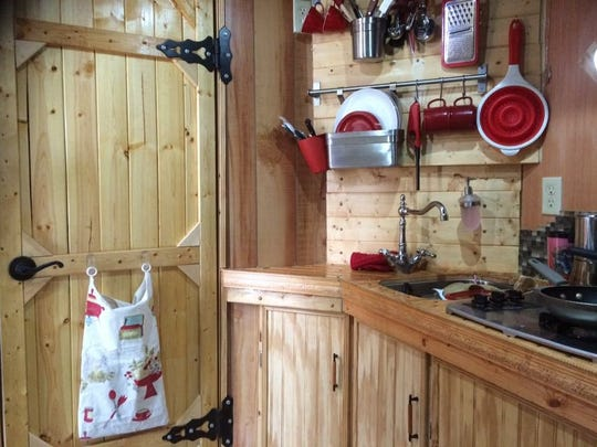 It looks like any normal kitchen. But it's in Renee McLaughlin's 87-square-foot tiny home.
